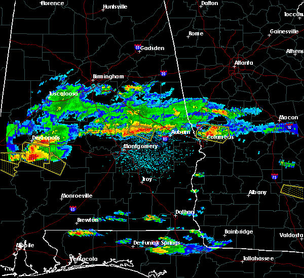 Radar Image for Severe Thunderstorms near Tallassee, AL at 4/8/2020 4:16 PM CDT