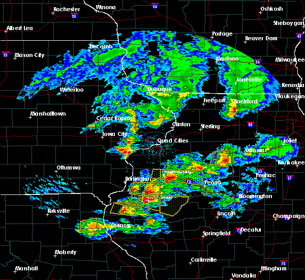 Radar Image for Severe Thunderstorms near Bushnell, IL at 4/8/2020 4:15 PM CDT