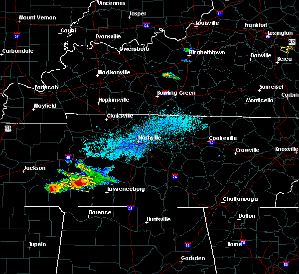Radar Image for Severe Thunderstorms near Clifton, TN at 4/8/2020 4:20 PM CDT