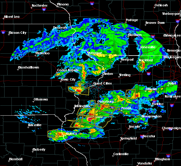 Radar Image for Severe Thunderstorms near Reynolds, IL at 4/8/2020 4:21 PM CDT