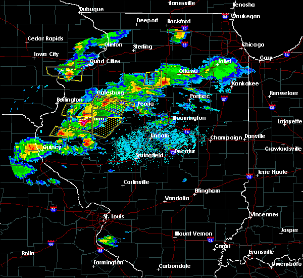 Radar Image for Severe Thunderstorms near Bushnell, IL at 4/8/2020 4:23 PM CDT
