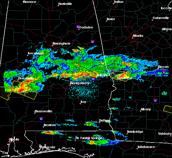 Radar Image for Severe Thunderstorms near Tallassee, AL at 4/8/2020 4:28 PM CDT