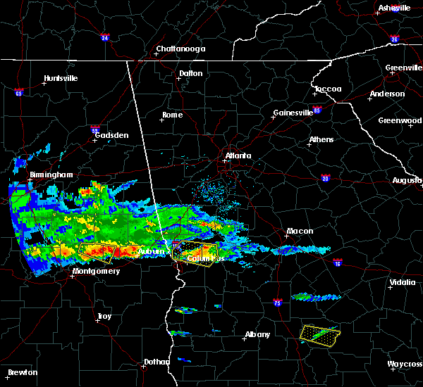 Radar Image for Severe Thunderstorms near Columbus, GA at 4/8/2020 5:28 PM EDT