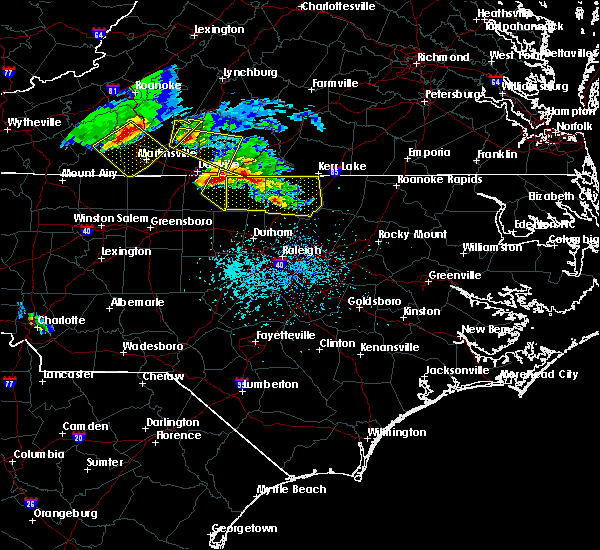 Radar Image for Severe Thunderstorms near Kittrell, NC at 4/8/2020 5:39 PM EDT