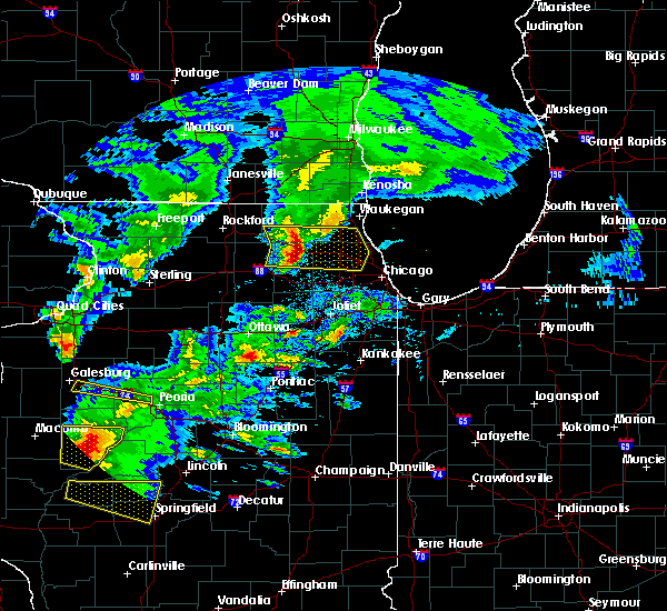 Radar Image for Severe Thunderstorms near Fox River Grove, IL at 4/8/2020 4:40 PM CDT