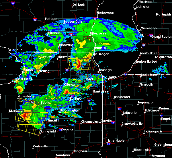 Radar Image for Severe Thunderstorms near Lake Zurich, IL at 4/8/2020 4:46 PM CDT