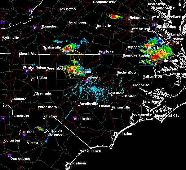 Radar Image for Severe Thunderstorms near Hillsborough, NC at 6/25/2015 6:27 PM EDT