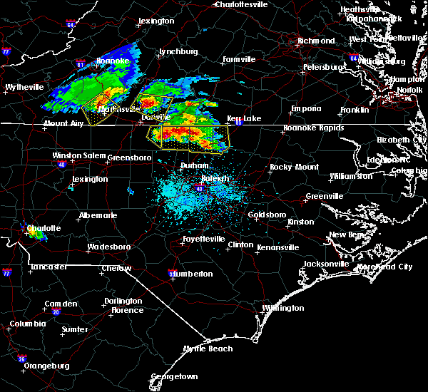 Radar Image for Severe Thunderstorms near Kittrell, NC at 4/8/2020 5:50 PM EDT