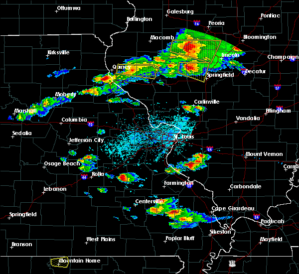 Radar Image for Severe Thunderstorms near Hull, IL at 4/8/2020 4:55 PM CDT
