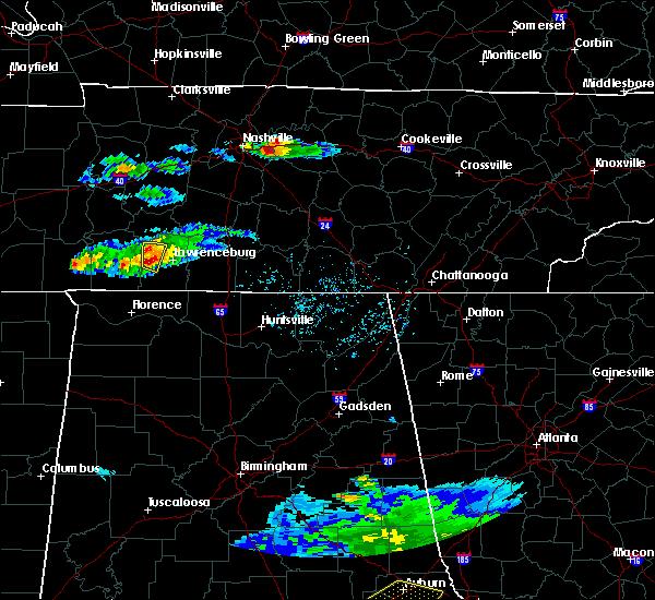 Radar Image for Severe Thunderstorms near Lawrenceburg, TN at 4/8/2020 4:57 PM CDT