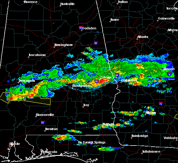 Radar Image for Severe Thunderstorms near Ladonia, AL at 4/8/2020 5:01 PM CDT