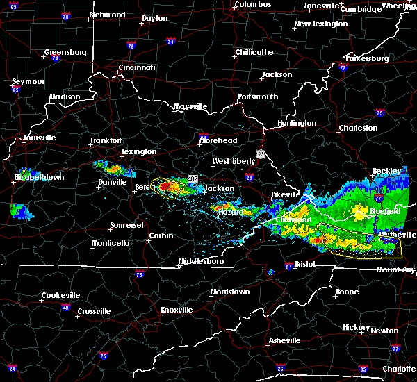 Radar Image for Severe Thunderstorms near Booneville, KY at 4/8/2020 6:01 PM EDT