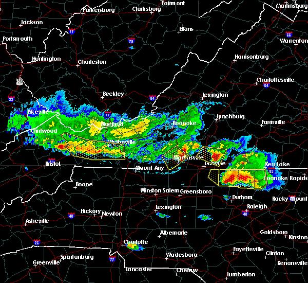 Radar Image for Severe Thunderstorms near Laurel Park, VA at 4/8/2020 6:02 PM EDT