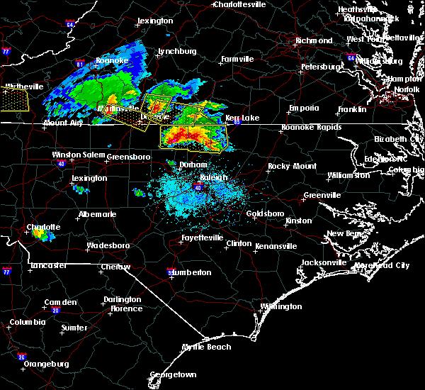 Radar Image for Severe Thunderstorms near Virgilina, VA at 4/8/2020 6:04 PM EDT