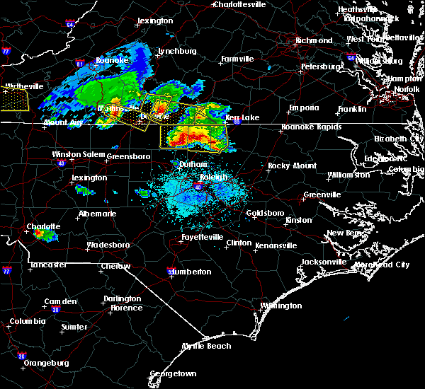 Radar Image for Severe Thunderstorms near Louisburg, NC at 4/8/2020 6:08 PM EDT