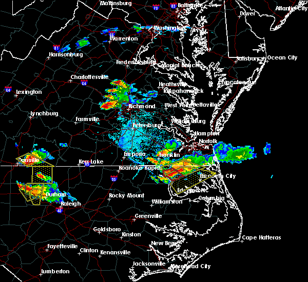 Radar Image for Severe Thunderstorms near Edenton, NC at 6/25/2015 6:30 PM EDT