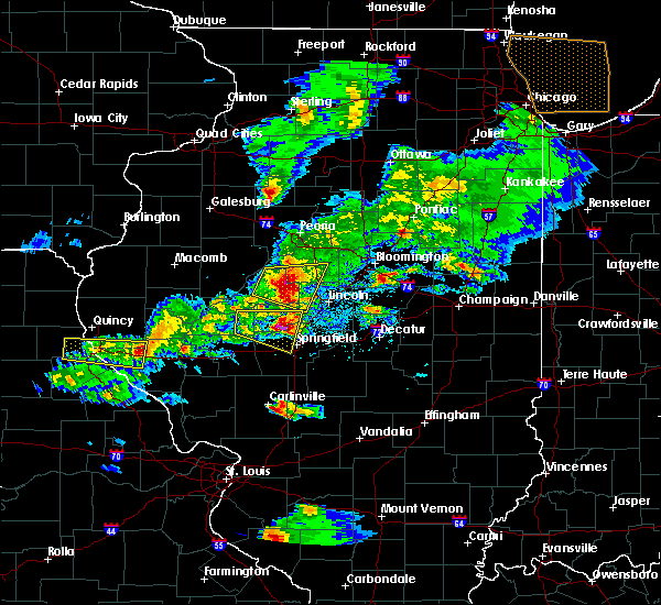 Radar Image for Severe Thunderstorms near Cantrall, IL at 4/8/2020 5:13 PM CDT