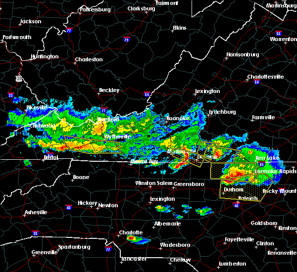 Radar Image for Severe Thunderstorms near Reidsville, NC at 4/8/2020 6:17 PM EDT