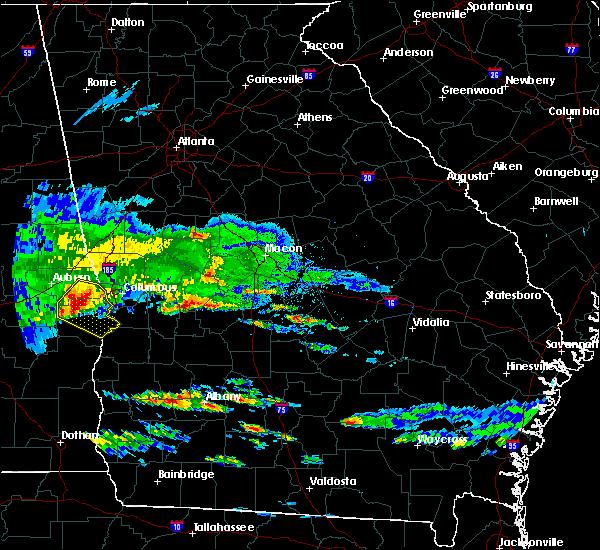 Radar Image for Severe Thunderstorms near Marshallville, GA at 4/8/2020 6:18 PM EDT