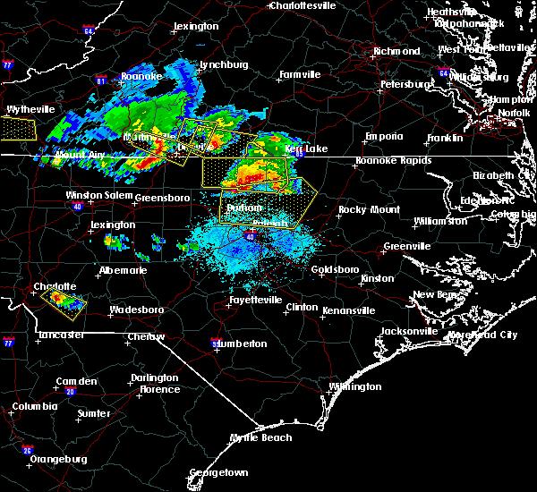 Radar Image for Severe Thunderstorms near Virgilina, VA at 4/8/2020 6:20 PM EDT