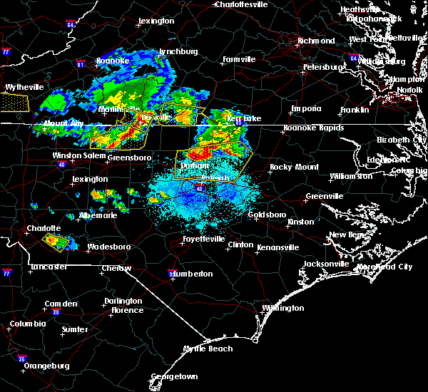 Radar Image for Severe Thunderstorms near Louisburg, NC at 4/8/2020 6:28 PM EDT