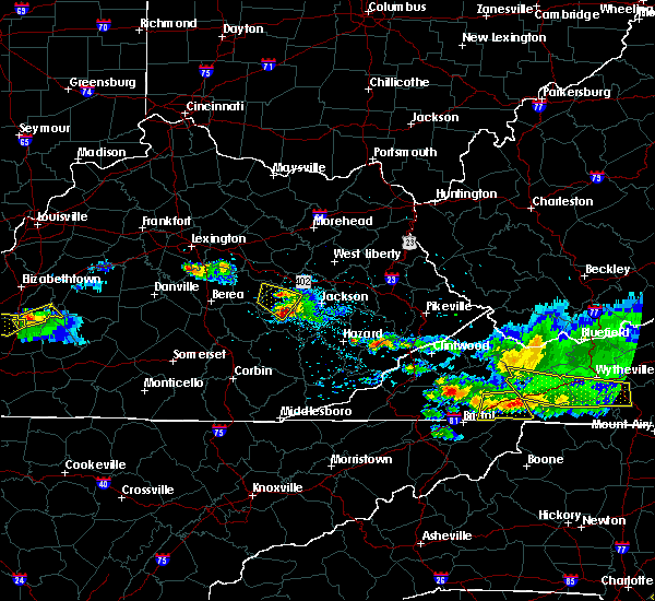 Radar Image for Severe Thunderstorms near Booneville, KY at 4/8/2020 6:30 PM EDT