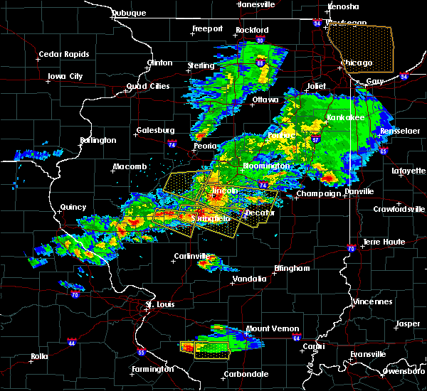 Radar Image for Severe Thunderstorms near Murrayville, IL at 4/8/2020 5:32 PM CDT