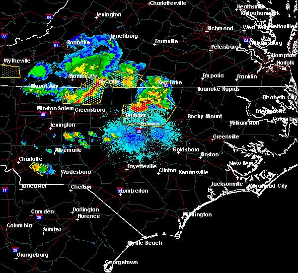 Radar Image for Severe Thunderstorms near Virgilina, VA at 4/8/2020 6:33 PM EDT