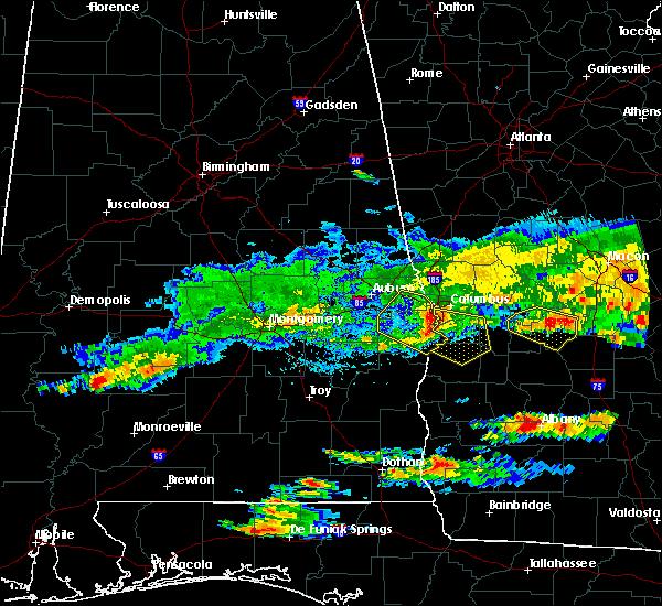 Radar Image for Severe Thunderstorms near Columbus, GA at 4/8/2020 6:34 PM EDT