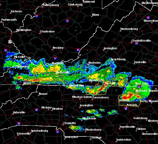 Radar Image for Severe Thunderstorms near Reidsville, NC at 4/8/2020 6:34 PM EDT
