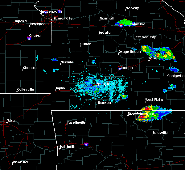 Radar Image for Severe Thunderstorms near Thayer, MO at 4/8/2020 5:36 PM CDT