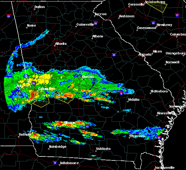 Radar Image for Severe Thunderstorms near Marshallville, GA at 4/8/2020 6:41 PM EDT