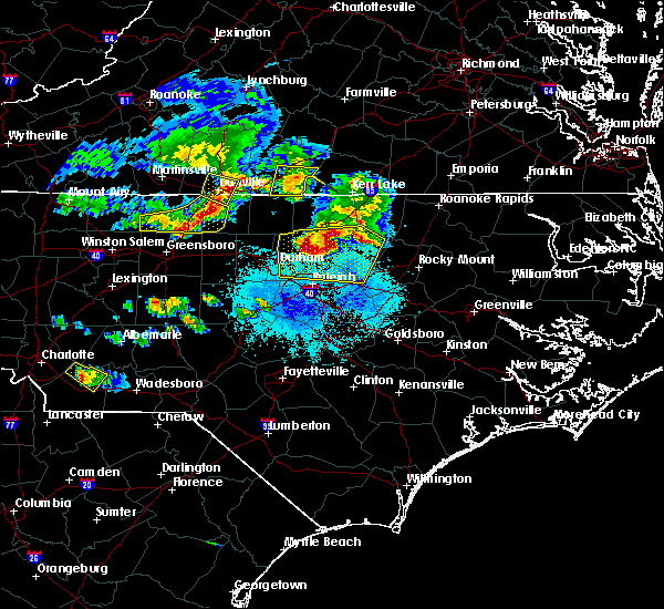 Radar Image for Severe Thunderstorms near Louisburg, NC at 4/8/2020 6:45 PM EDT