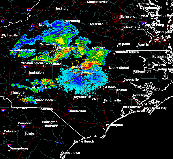 Radar Image for Severe Thunderstorms near Reidsville, NC at 4/8/2020 6:46 PM EDT