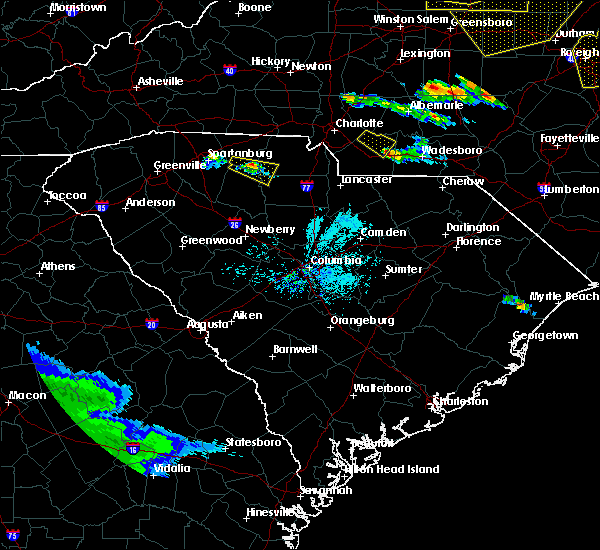 Radar Image for Severe Thunderstorms near Wingate, NC at 4/8/2020 6:57 PM EDT