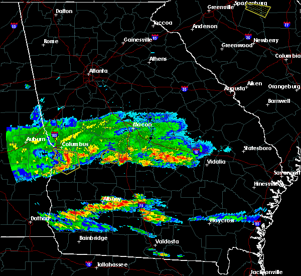 Radar Image for Severe Thunderstorms near Unadilla, GA at 4/8/2020 6:58 PM EDT