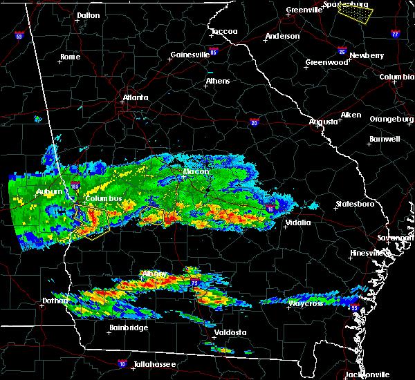 Radar Image for Severe Thunderstorms near Marshallville, GA at 4/8/2020 6:59 PM EDT