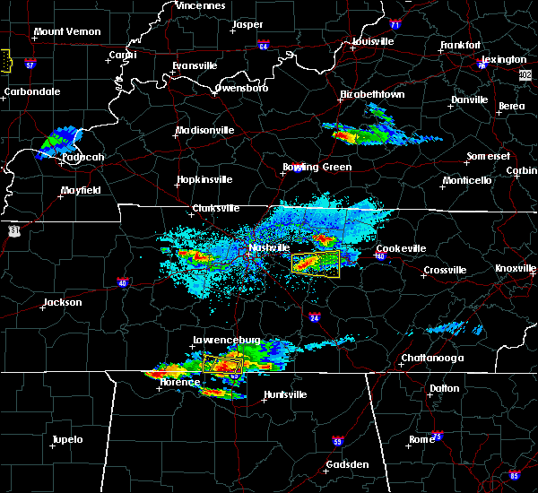 Radar Image for Severe Thunderstorms near Carthage, TN at 4/8/2020 6:01 PM CDT