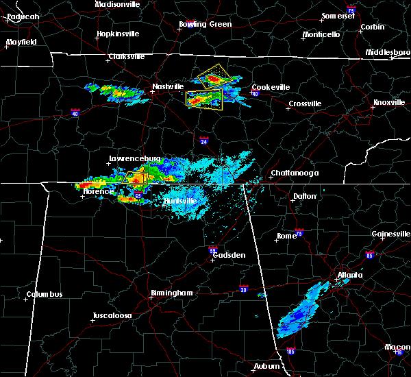 Radar Image for Severe Thunderstorms near Huntsville, AL at 4/8/2020 6:08 PM CDT