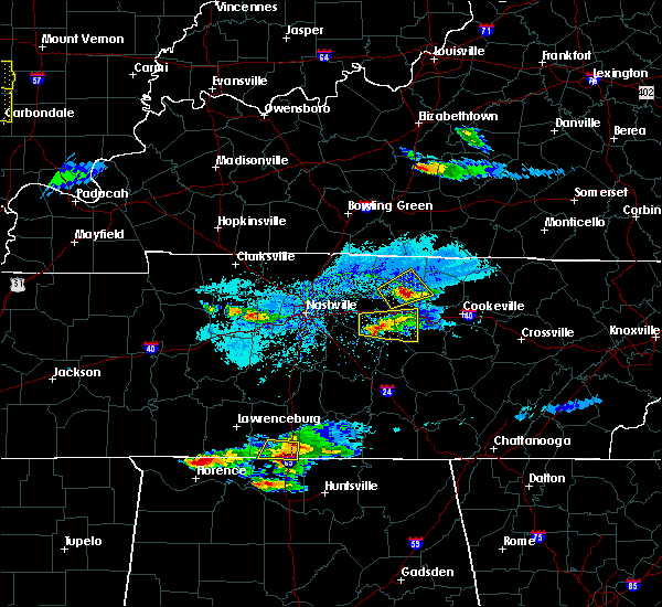 Radar Image for Severe Thunderstorms near Watertown, TN at 4/8/2020 6:09 PM CDT