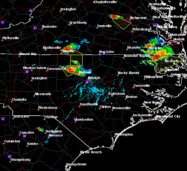 Radar Image for Severe Thunderstorms near Glen Raven, NC at 6/25/2015 6:37 PM EDT