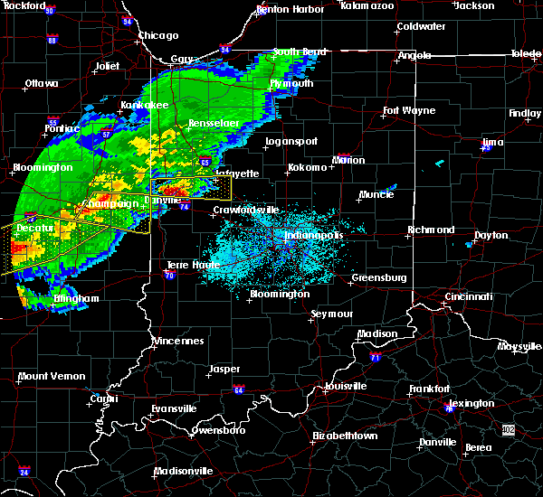Radar Image for Severe Thunderstorms near Urbana, IL at 4/8/2020 6:11 PM CDT