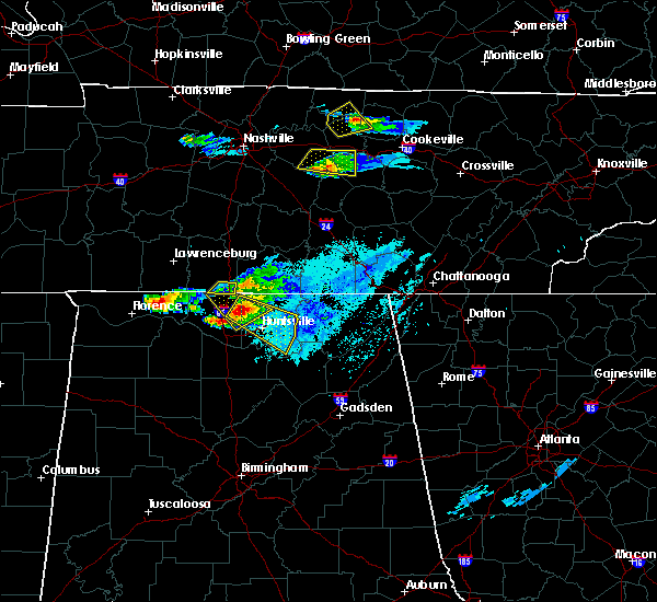 Radar Image for Severe Thunderstorms near New Hope, AL at 4/8/2020 6:29 PM CDT