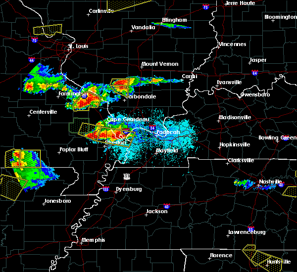 Radar Image for Severe Thunderstorms near Dowell, IL at 4/8/2020 6:29 PM CDT