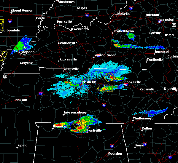 Radar Image for Severe Thunderstorms near Watertown, TN at 4/8/2020 6:29 PM CDT