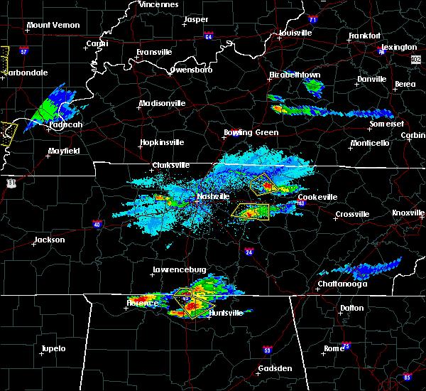 Radar Image for Severe Thunderstorms near Alexandria, TN at 4/8/2020 6:29 PM CDT