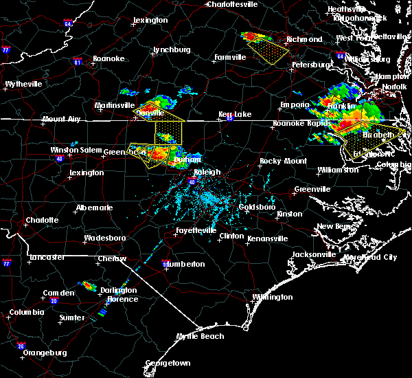 Radar Image for Severe Thunderstorms near Roxboro, NC at 6/25/2015 6:42 PM EDT
