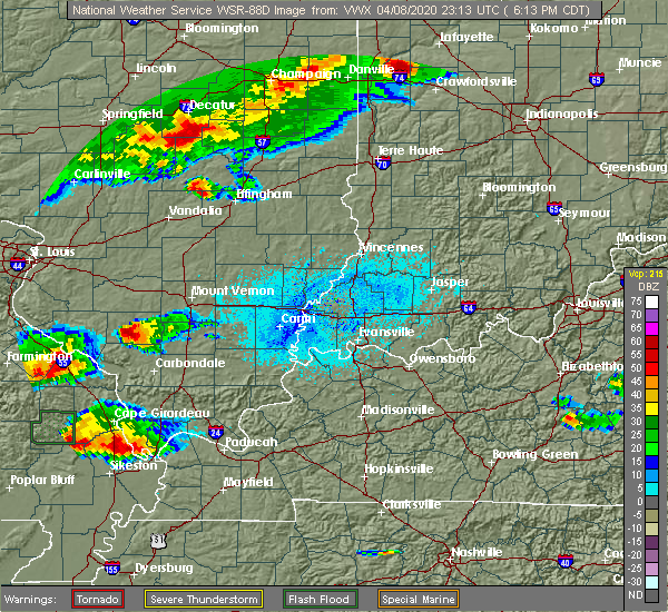 Radar Image for Severe Thunderstorms near Sigel, IL at 4/8/2020 6:36 PM CDT
