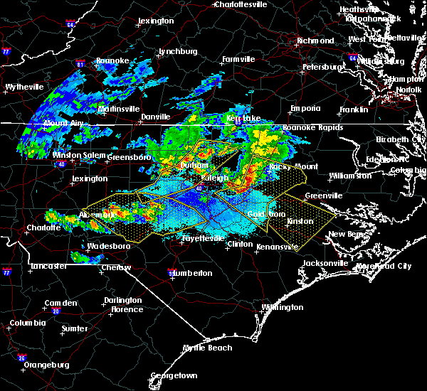 Radar Image for Severe Thunderstorms near Pinehurst, NC at 4/8/2020 7:35 PM EDT