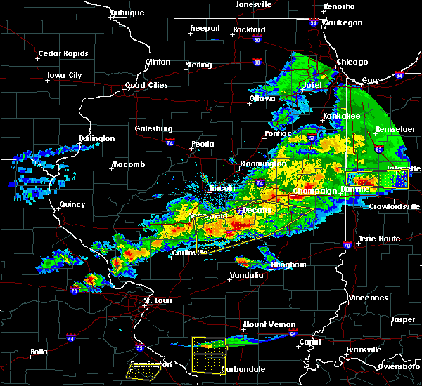 Radar Image for Severe Thunderstorms near Sullivan, IL at 4/8/2020 6:39 PM CDT